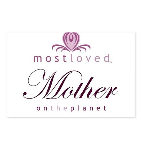 Most Loved Mother Postcards (Package of 8)