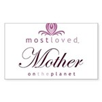 Most Loved Mother Rectangle Sticker