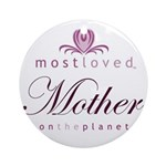 Most Loved Mother Ornament (Round)