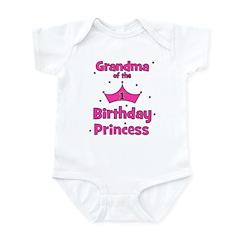 Grandma of the 1st Birthday P Infant Bodysuit