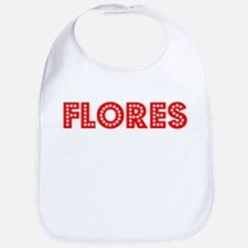 Retro Flores (Red) Bib