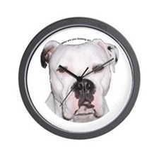 American Bulldog Wall Clock