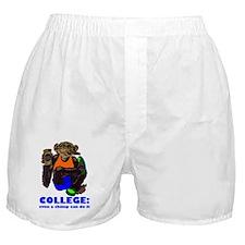 College Chimp Boxer Shorts