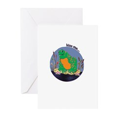 Kiss Me Frog Greeting Cards (Pk of 20)