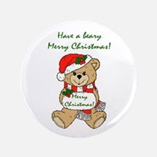 """Beary Merry Christmas 3.5"""" Button (100 pack)"""