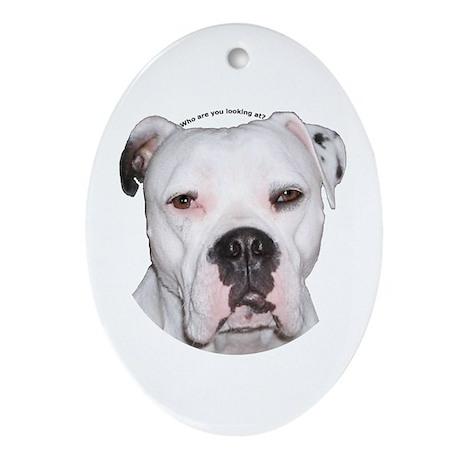 American Bulldog Keepsake (Oval)