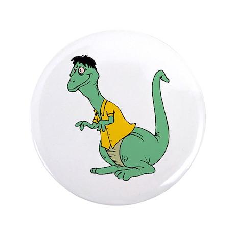 "Goofy Dinosaur 3.5"" Button (100 pack)"