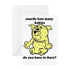 How many babies Greeting Card