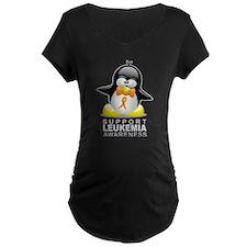 Leukemia Penguin Orange T-Shirt