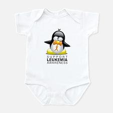 Leukemia Penguin Orange Infant Bodysuit