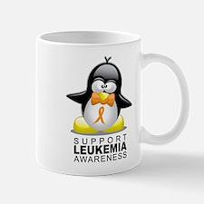 Leukemia Penguin Orange Mug