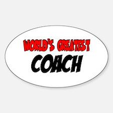 World's Greatest Coach Oval Decal