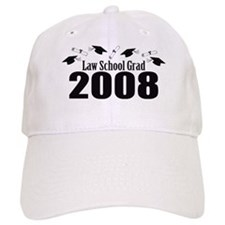 Law School Grad 2008 (Black Baseball Caps) Baseball Cap
