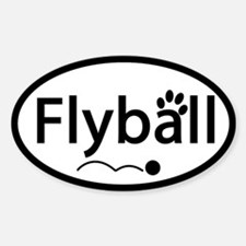 Flyball Oval Decal