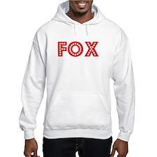 Retro Fox (Red) Hoodie