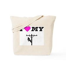 Funny Linemens Tote Bag