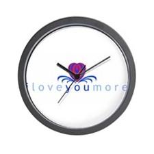 I Love You More (TM) Wall Clock