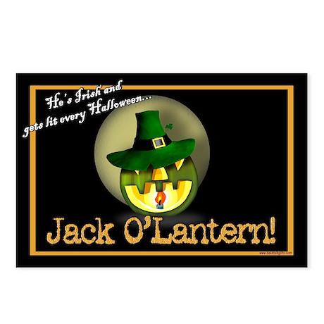 Jack O'Lantern... Postcards (Package of 8)