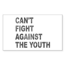 Can't Fight Against the Youth Rectangle Decal