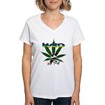 Wiid Panda Women's V-Neck T-Shirt