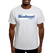Biodiesel: Star logo Ash Grey T-Shirt
