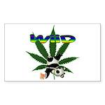 Wiid Panda Rectangle Sticker 50 pk)