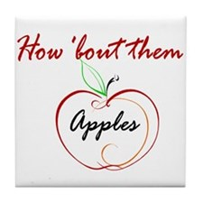 How About Them Apples Tile Coaster