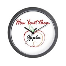 How About Them Apples Wall Clock
