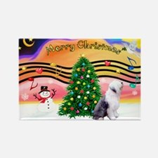 XmasMusic2/Old English 1 Rectangle Magnet (10 pack