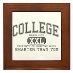 XXL College Framed Tile
