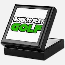 """Born to Play Golf"" Keepsake Box"