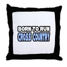 """Born to Run Cross Country"" Throw Pillow"