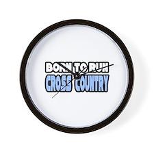 """Born to Run Cross Country"" Wall Clock"