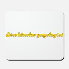 Retro Otorhinolar.. (Gold) Mousepad