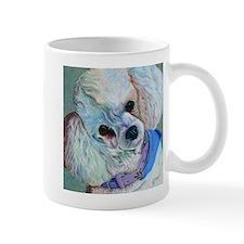 White Poodle Small Mug