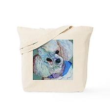 White Poodle Tote Bag