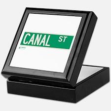 Canal Street in NY Keepsake Box