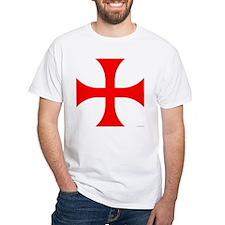 Cross Pattee White T-Shirt
