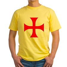 Cross Pattee Yellow T-Shirt