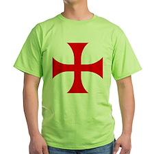 Cross Pattee Green T-Shirt
