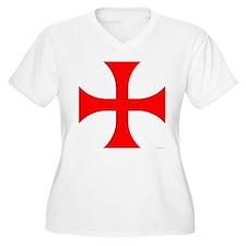 Cross Pattee Women's Plus Size V-Neck T-Shirt