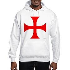 Cross Pattee Hooded Sweatshirt
