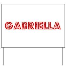Retro Gabriella (Red) Yard Sign
