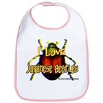 I love Japanese Beetles Bib