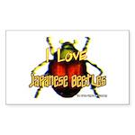I love Japanese Beetles Rectangle Sticker