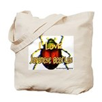 I love Japanese Beetles Tote Bag