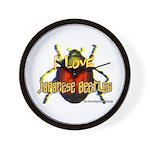 I love Japanese Beetles Wall Clock