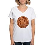 Wax Templar Seal Women's V-Neck T-Shirt