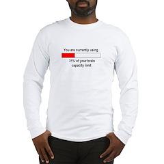 BRAIN CAPACITY LIMIT Long Sleeve T-Shirt