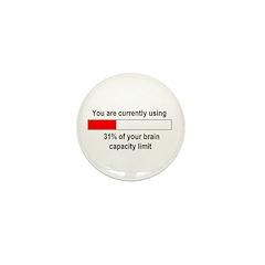 BRAIN CAPACITY LIMIT Mini Button (100 pack)
